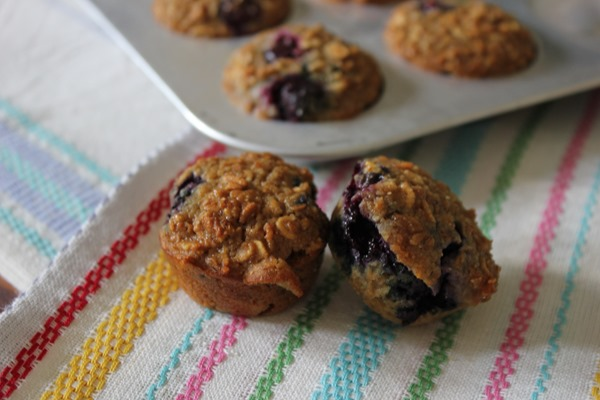 Healthy Blueberry Oatmeal Mini Breakfast Muffins