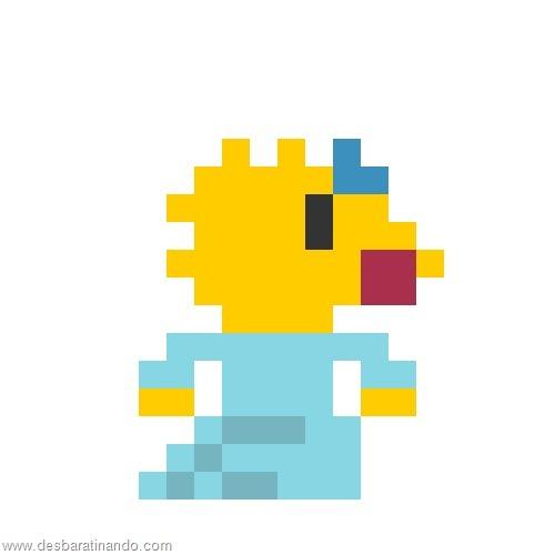 super herois e viloes em 8 bits os simpsons (2)