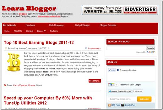 Learn Blogger pics