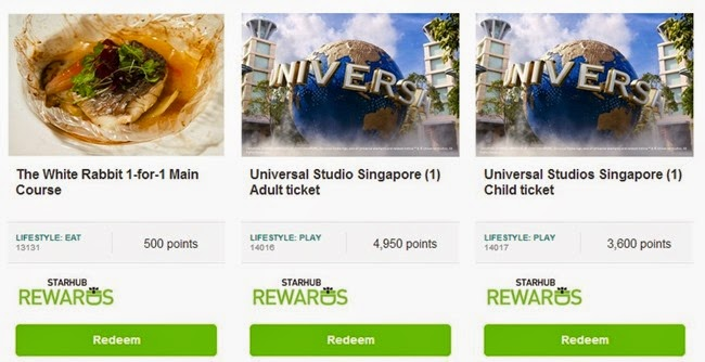 Starhub rewards food and play