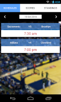 Screenshot of Live Basketball Scores