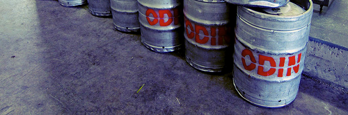 image of Odin Brewery's kegs, courtesy of +Russ's Flickr page