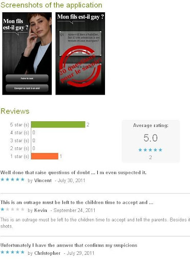 The app figures out if your son is gay or not by reviewing the Yes/No ...