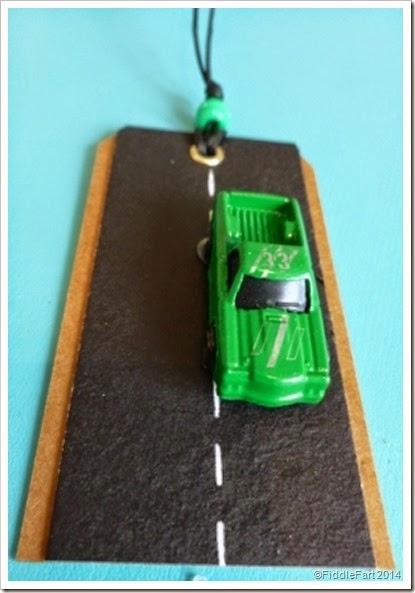 Micro car gift tag. car gift tag