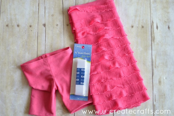 American Doll Ruffle Pants Tutorial Supplies