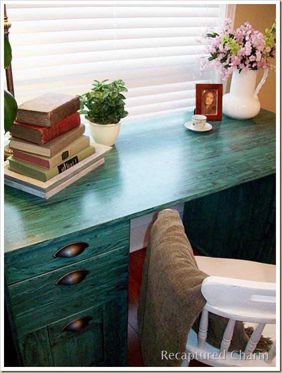 viridian green desk grained 049a