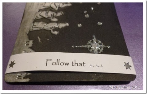 Follow that .... Cuttlebug embossing folder Christmas