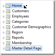 Dropping Master Detail Page on the right side of Home page.
