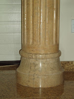 Beige Venato Marble Fluted Tuscan Column