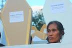 Mrs. Edita Tiamzon, wife of UNTV driver Daniel Tiamzon joins the rally marking the third anniversary of the Ampatuan Massacre, Nov. 23. (Photo by Ronalyn V. Olea/ Bulatlat.com)