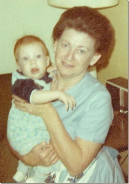 Grandma Evans and Cory 1969 001