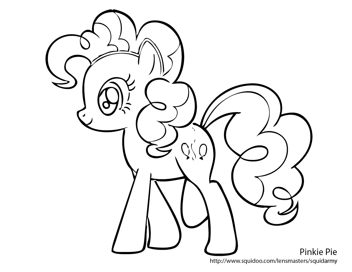 Free pinkie pie and rarity coloring pages