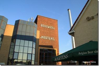 ホップの香りを周りに漂わせているビール醸造所 Brouwerij Martens