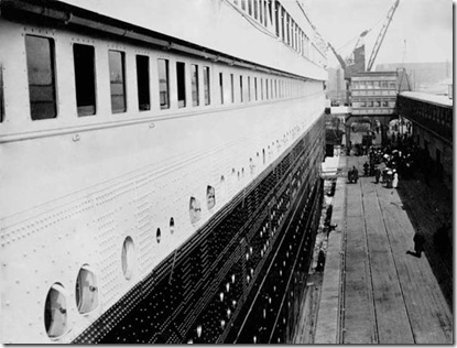 Southampton, Second class boarding Gangway