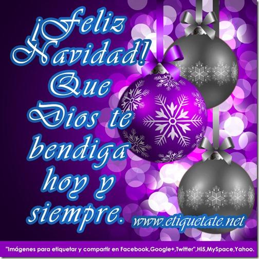 Feliz Navidad que Dios te bendiga