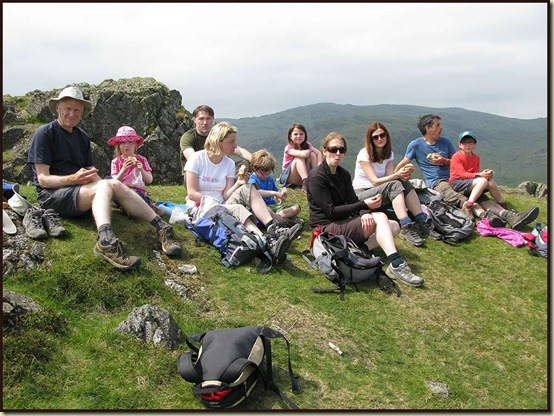 Lunch by the summit of Helm Crag