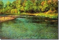 3-Irridescence-of-a-Shallow-Stream-landscape-John-Ottis-Adams