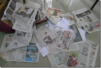 newspaper all over