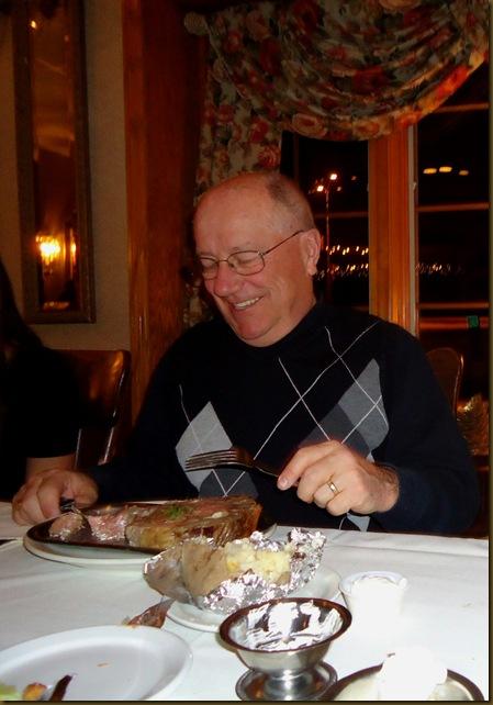 Doug with dinner