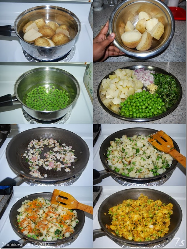 Potato stuffing for samosa process