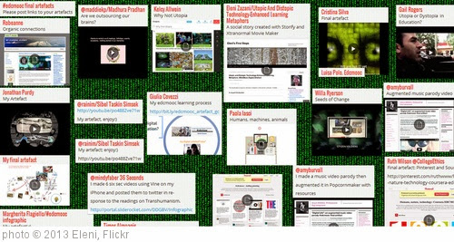 'The wall of #EdcMooc Art -e-Facts' photo (c) 2013, Eleni - license: https://creativecommons.org/licenses/by/2.0/