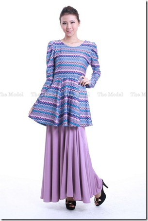peplum tribal blue2
