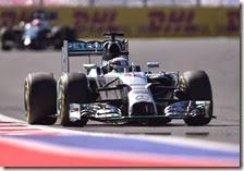 Hamilton conquista pole del gran premio di Russi 2014