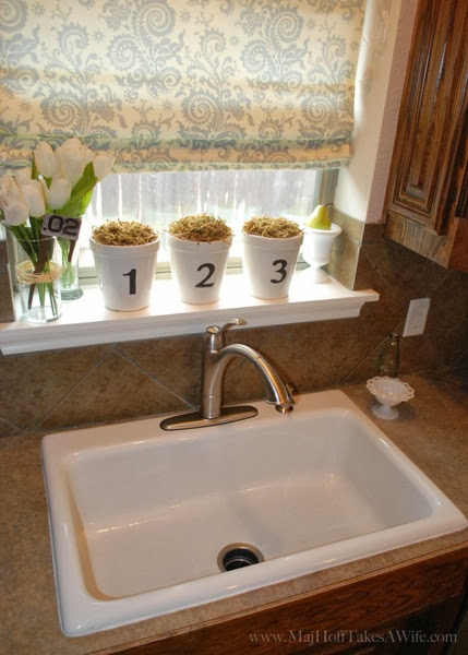 New sink with single drain