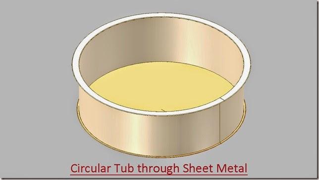 Circular Tub through Sheet Metal