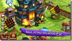 أبنى قريتك ودافع وهاجم فى اللعبة ثلاثية الأبعاد لعبة حروب معلمى الساموراى Sensei Wars للأندرويد