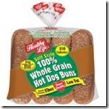Whole grain hot dog buns