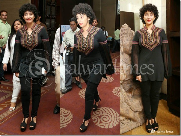 Manisha_Koirala_Black_Short_Kurta
