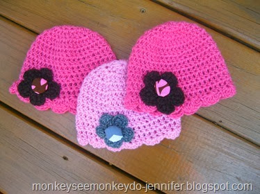 flower hat with covered button (4)
