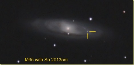 30 March 2013 M65 with SN2013am