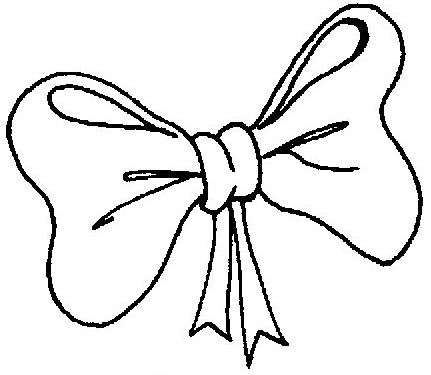 Christmas bow coloring pages