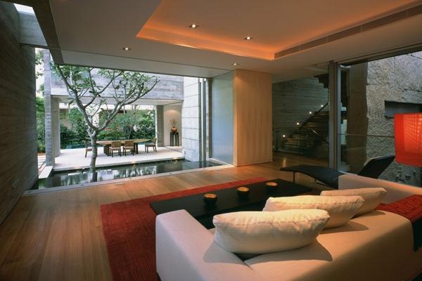 decoracion-salon-Casa-Sunset-Vale-WOW-Architects