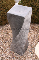 H36in x 12in Granite Twist Fountain