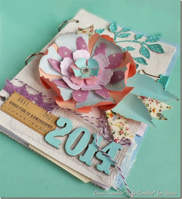 cafe creativo - Anna Drai - sizzix big shot - Mini album - Jumbo Tattered Florals (3)