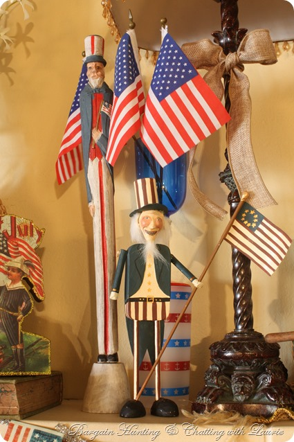 4th of July Mantel-Bargan Hunting with Laurie