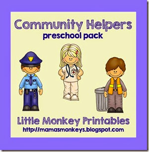 community helpers, preschool pack, police, fire, nurse, garbage