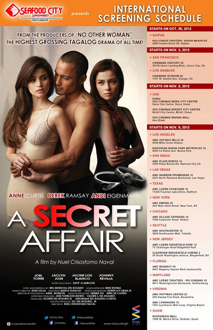A Secret Affair - International Screening Schedule