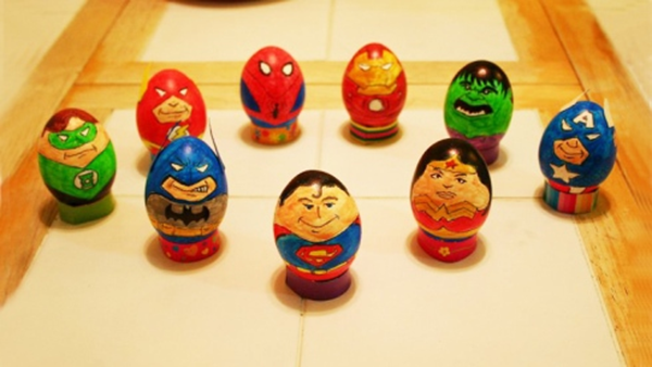 oeufs de pâques super héros