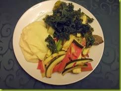 Trout en papilotte with steamed veg