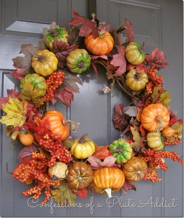 CONFESSIONS OF A PLATE ADDICT Fall Wreath