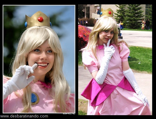 princesa peach cosplay Princess Peach cosplya desbaratianndo (3)