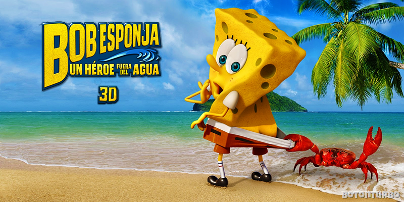 """Mira el Trailer de """"Bob Esponja, un Héroe fuera del Agua"""""""