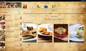 Screenshot of Pancake recipes