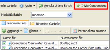 Advanced Renamer - Avviare ridenominazione dei file