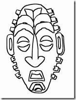Caretas y mscaras para colorear Azteca y Africano