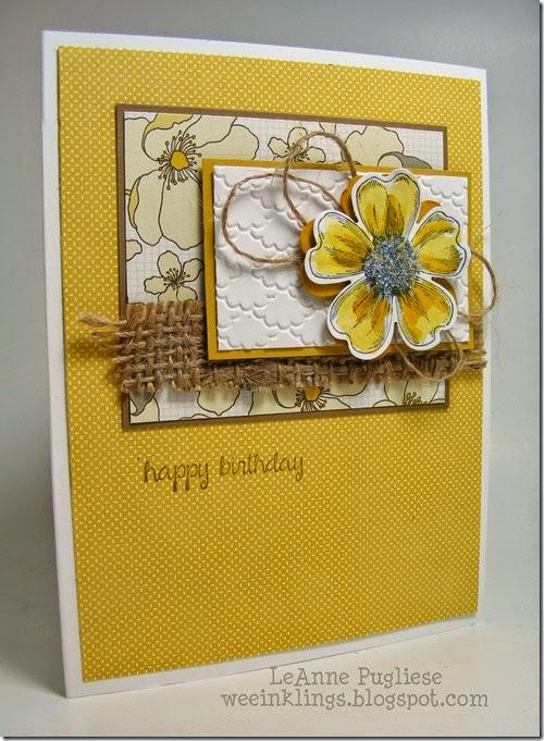 LeAnne Pugliese WeeInklings Paper Players 211 Flower Shop Stampin Up!